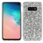 Glitter Powder Shockproof TPU Protective Case for Galaxy S10e (Silver)