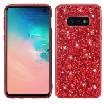 Glitter Powder Shockproof TPU Protective Case for Galaxy S10e (Red)