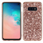 Glitter Powder Shockproof TPU Protective Case for Galaxy S10+ (Rose Gold)