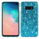 Glitter Powder Shockproof TPU Protective Case for Galaxy S10 (Blue)