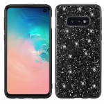 Glitter Powder Shockproof TPU Protective Case for Galaxy S10 (Black)