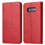 Horizontal Flip PU Leather Case for Galaxy S10e, with Holder & Card Slot & Wallet (Red)