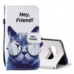 Cool Cat Pattern Horizontal Flip Leather Case for Galaxy S10e, with Holder & Card Slots & Wallet