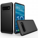 Shockproof Rugged Armor Protective Case for Galaxy S10, with Card Slot (Black)