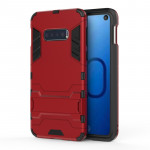 Shockproof PC + TPU Case for Galaxy S10 Lite, with Holder (Red)