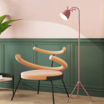 YWXLight Macaron Floor Lamp Nordic Bedroom Living Room Study Cute Pink Creative Antler Eye LED Table Lamp (Pink)
