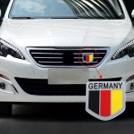 MZ Universal Germany Flag Pattern Aluminum Alloy Car Front Grille