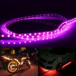 Pink Light Normally-on Style 45 LED 3528 SMD Waterproof Flexible Car Strip Light for Car Decoration, DC 12V, Length: 45cm