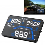 Q7 5.5 inch Car GPS HUD Vehicle-mounted Head Up Display Security System, Support Speed & Real Time & Altitude & Over Speed Alarm