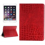 Crocodile Texture Horizontal Flip Smart Leather Case with Holder & Card Slots & Wallet for iPad Mini 4(Red)