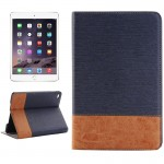 Cross Texture Horizontal Flip Smart Leather Case with Holder & Card Slots & Wallet for iPad Mini 4(Dark Blue)