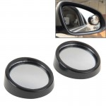 2 PCS SY-022 Car Vehicle Mirror Blind Spot Rear View Small Round Mirror, Diameter: about 5.6cm(Black)