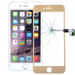 0.26mm 9H+ Surface Hardness 2.5D Curved Surface Full Screen Cover Explosion-proof Tempered Glass Film for iPhone 6s(Gold)