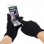 HAWEEL Three Fingers Touch Screen Gloves for Kids(Black)