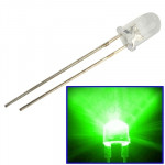 1000 PCS 3mm Green Light Water Clear LED Lamp