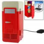 Mini USB PC Fridge Beverage / Drink Cans Cooling / Heating(Red)