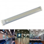 15W / 1200LM High Quality Tensile Aluminum Material White Light LED Energy Saving Light Tube, Base Type: PL