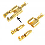 100pcs DIY Crimp Terminal Female to 2 x Male Spade Connector, Cable size: 1-2.5mm2 (100pcs in one packaging, the price is for 10