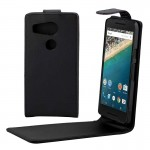Vertical Flip Magnetic Buckle PU Leather Case for Google Nexus 5X(Black)