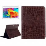 Crocodile Texture Leather Case with Holder for Samsung Galaxy Tab 4 10.1 / SM-T530 (Brown)