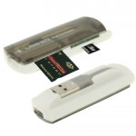 Lecteur multi-cartes USB 2.0, support gris SD / MMC, MS, TF, carte M2 - Wewoo