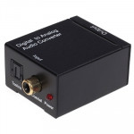 Digital Optical Coax to Analog RCA Audio Converter(Black)