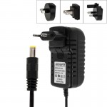 4 in 1 EU Plug + US Plug + UK Plug + AU Plug AC 100-240V to DC 12V 3A Power Adapter, Tips: 5.5 x 2.1mm, Cable Length: about 1.2m