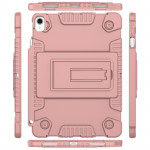 Full Coverage Silicone Shockproof Case for iPad Pro 11 inch (2018), with Adjustable Holder (Rose Gold)