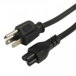 High Quality 3 Prong Style US Notebook AC Power Cord, Length: 1.2m