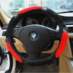 3D Sandwich Style Slip-resistant Slams Car Steering Wheel Movement Cover