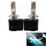 2 PCS ZY-H7JGDP6-55W Philips MZ 5200LM 6000K White Light Car LED Head Lamp with Driver, DC 11-30V
