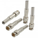 5 PCS Copper-free Solder Male to Female BNC Connector