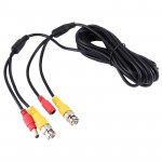 CCTV Cable, Video Power Cable, RG59 Coaxial Cable, Length: 5m(Black)
