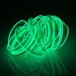 EL Cold Green Light Waterproof Flat Flexible Car Strip Light with Driver for Car Decoration, Length: 5m(Green)