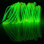 EL Cold Fluorescent Green Light Waterproof Flat Flexible Car Strip Light with Driver for Car Decoration, Length: 5m(Light Green)