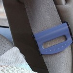 2 PCS SHUNWEI Car Safety Seat Belt Adjuster(Blue)