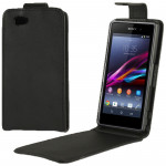 Vertical Flip Leather Case for Sony Xperia Z1 mini / M51w / D5503 / Xperia Z1 Compact (Black)