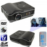 Portable DVD Projector with TV Receiver Function (PAL / NTSC / SECAM), AV IN / OUT and Game Function, Support SD / MMC Card / US