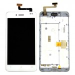iPartsBuy for ASUS PadFone Infinity / A80 LCD Screen + Touch Screen Digitizer Assembly with Frame Replacement(White)