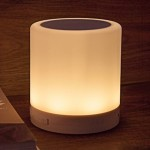 388 Atmosphere Light Music Table Lamp Multifunctional Wireless Bluetooth Speaker with LED Light & Handle, Support AUX IN & Hands