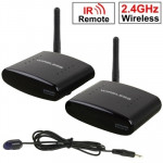 2.4GHz 4 Channels Wireless AV Transmitter & Receiver, Compatible with DVD, DVR, CCD Camera, IPTV, Satellite Set-Top Box and Othe