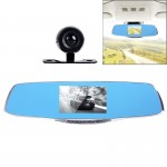 G835 HD 1080P 4.3 inch Screen Display Rearview Mirror Vehicle DVR, Generalplus 2248, 2 Cameras 170 Degree Wide Angle Viewing, Su