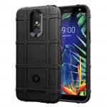 Shockproof Rugged Shield Full Coverage Protective Silicone Case for LG K40 (Black)