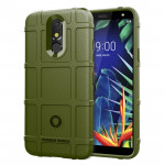 Shockproof Rugged Shield Full Coverage Protective Silicone Case for LG K40 (Army Green)