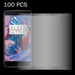 100 PCS OnePlus Three 0.26mm 9H Surface Hardness 2.5D Explosion-proof Tempered Glass Screen Film