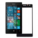iPartsBuy for Nokia Lumia 730 Front Screen Outer Glass Lens(Black)