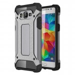 Coque renforcée Samsung Galaxy Grand-Prime / G530 Armure robuste TPU + Combinaison PC Case Gris - wewoo.fr