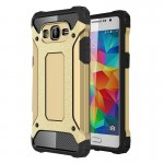 Coque renforcée Samsung Galaxy Grand-Prime / G530 Armure robuste TPU + Combinaison PC Case Gold - wewoo.fr