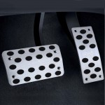 2 PCS Universial Stainless Steel Car Safty Automatic Gas Brake Pedals Pads