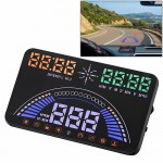 S7 5.8 inch Car GPS HUD / OBD2 Vehicle-mounted Gator Automotive Head Up Display Security System with Dual Display, Support Car L